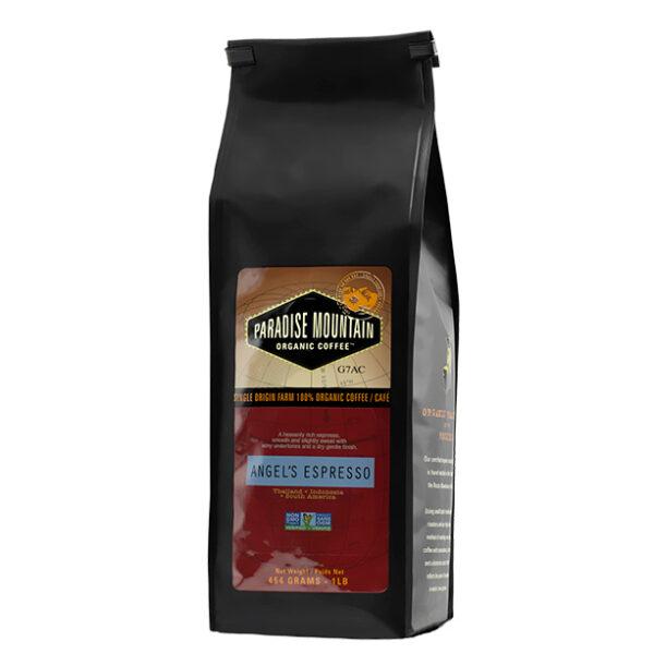 Paradise Mountain Organic Coffee - Angel's Espresso, 454g/1lb bag