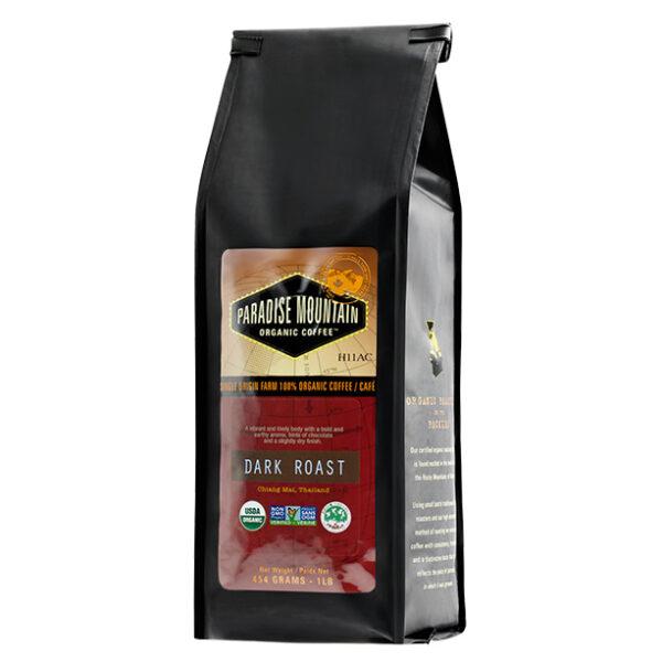 Paradise Mountain Organic Coffee - Dark Roast, 454g/1lb bag