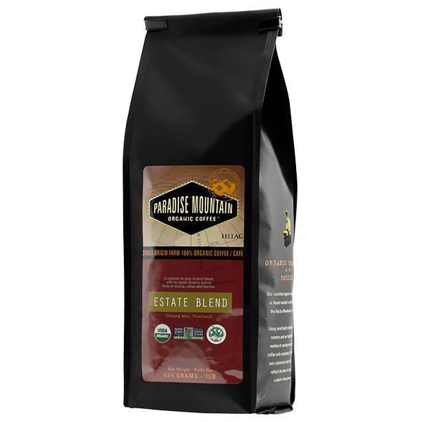 Paradise Mountain Organic Coffee - Estate Blend, 454g/1lb bag